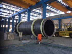 sabbiatura industriale in opera
